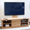 Mobel Oak Mounted Widescreen Television Cabinet - - Living Room by Baumhaus available from Harley & Lola - 4