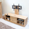 Mobel Oak Mounted Widescreen Television Cabinet - - Living Room by Baumhaus available from Harley & Lola - 3