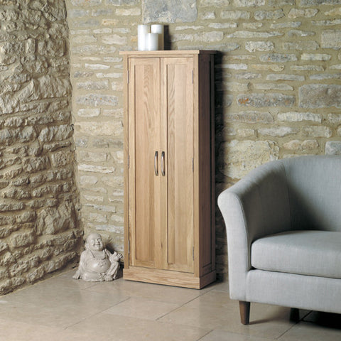 Mobel Oak DVD Storage Cupboard - - Living Room by Baumhaus available from Harley & Lola - 1