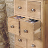 Mobel Oak Multi-Drawer DVD / CD Storage Chest - - Living Room by Baumhaus available from Harley & Lola - 3