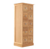 Mobel Oak Multi-Drawer DVD / CD Storage Chest - - Living Room by Baumhaus available from Harley & Lola - 4
