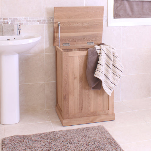 Mobel Oak Laundry Bin - - Bathroom by Baumhaus available from Harley & Lola - 2