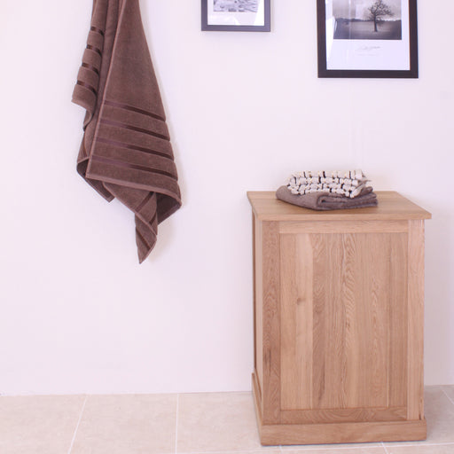 Mobel Oak Laundry Bin - - Bathroom by Baumhaus available from Harley & Lola - 1