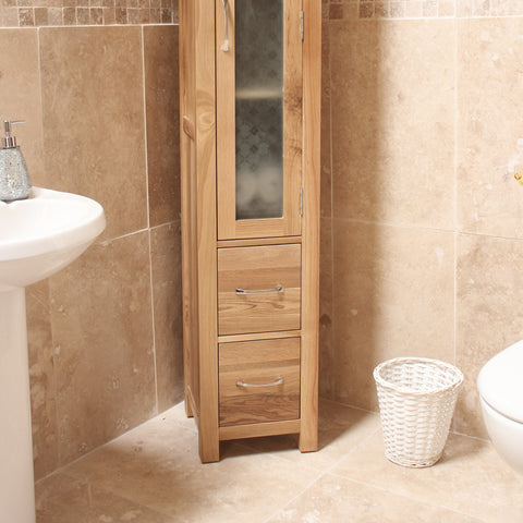 Baumhaus Mobel Oak Closed Bathroom Unit Tall