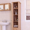 Mobel Oak Open Bathroom Unit Tall - - Bathroom by Baumhaus available from Harley & Lola - 4
