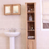 Mobel Oak Open Bathroom Unit Tall - - Bathroom by Baumhaus available from Harley & Lola - 5