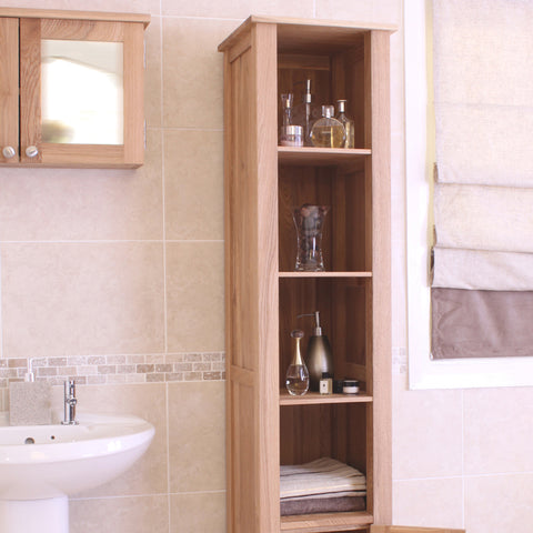 Baumhaus Mobel Oak Open Bathroom Unit Tall