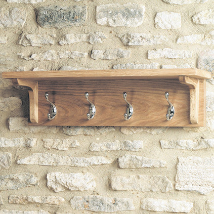 Mobel Oak Wall Mounted Coat Rack - - Hallway by Baumhaus available from Harley & Lola - 1