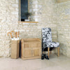 Mobel Oak Shoe Bench - - Hallway by Baumhaus available from Harley & Lola - 1