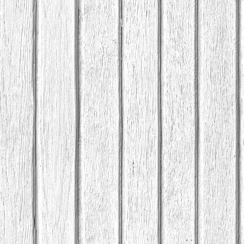 Sawn Wood Slats Wallpaper - White