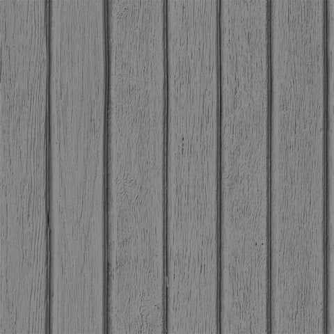 Sawn Wood Slats Wallpaper - Grey