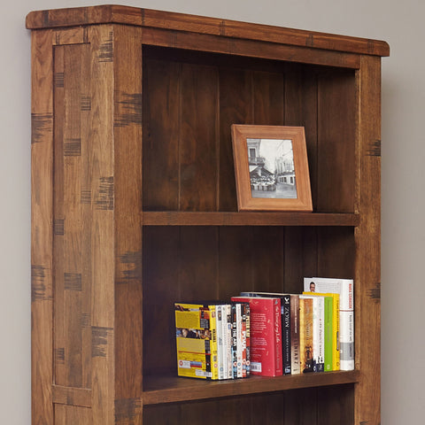 Baumhaus Heyford Rough Sawn Oak Large Open Bookcase