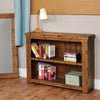 Heyford Rough Sawn Oak Low Bookcase - - Living Room by Baumhaus available from Harley & Lola - 2