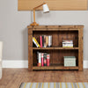 Heyford Rough Sawn Oak Low Bookcase - - Living Room by Baumhaus available from Harley & Lola - 3