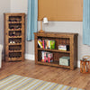 Heyford Rough Sawn Oak Low Bookcase - - Living Room by Baumhaus available from Harley & Lola - 4