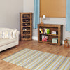 Heyford Rough Sawn Oak Low Bookcase - - Living Room by Baumhaus available from Harley & Lola - 5