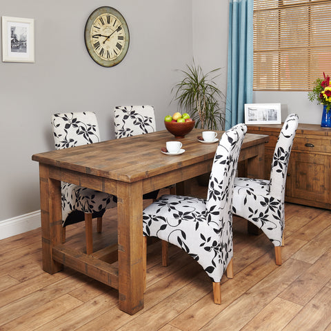 Heyford Rough Sawn Oak Dining Table (4 Seater) -Heyford Rough Sawn Oak Dining Table (4 Seater) - Living Room by Baumhaus available from Harley & Lola - 1