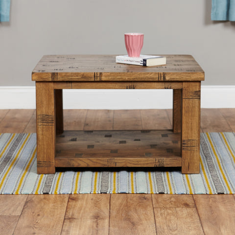 Baumhaus Heyford Rough Sawn Oak Open Coffee Table