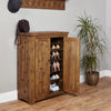 Heyford Rough Sawn Oak Shoe Cupboard - - Living Room by Baumhaus available from Harley & Lola - 2