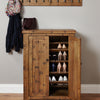 Heyford Rough Sawn Oak Shoe Cupboard - - Living Room by Baumhaus available from Harley & Lola - 4