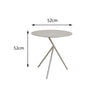 Verona Aluminium Large 3 Legged Side Table - - Garden and Conservatory by Cozy Bay available from Harley & Lola - 3