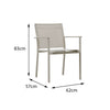 Verona Aluminium & texteline Dining Chair - - Garden and Conservatory by Cozy Bay available from Harley & Lola - 4