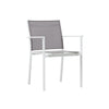 Verona Aluminium & texteline Dining Chair -White & Grey - Garden and Conservatory by Cozy Bay available from Harley & Lola - 1