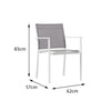 Verona Aluminium & texteline Dining Chair - - Garden and Conservatory by Cozy Bay available from Harley & Lola - 3