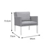 Verona Aluminium & Fabric 4 Seater Lounge Set - - Garden and Conservatory by Cozy Bay available from Harley & Lola - 11