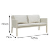 Verona Aluminium & Fabric 2 Seater Sofa - - Garden and Conservatory by Cozy Bay available from Harley & Lola - 4