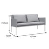 Verona Aluminium & Fabric 2 Seater Sofa - - Garden and Conservatory by Cozy Bay available from Harley & Lola - 3