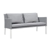 Verona Aluminium & Fabric 2 Seater Sofa -White & Grey - Garden and Conservatory by Cozy Bay available from Harley & Lola - 1