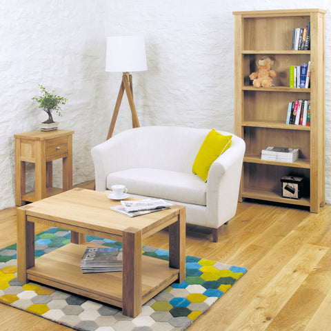 Aston Oak Coffee Table Medium - - Living Room by Baumhaus available from Harley & Lola - 1