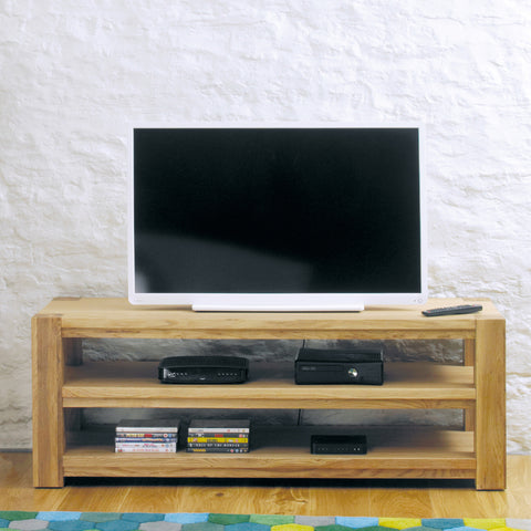 Aston Oak Widescreen Open Television Cabinet
