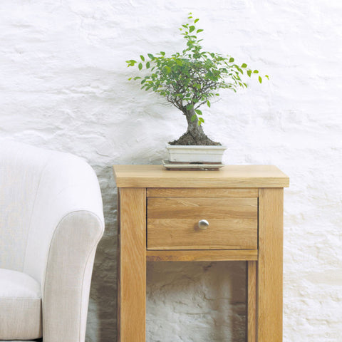 Aston Oak One Drawer Lamp
