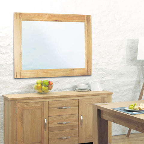 Aston Oak Wall Mirror