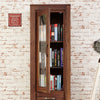 Baumhaus Mayan Walnut Narrow Glazed Bookcase