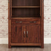 Baumhaus Mayan Walnut Large Glazed Bookcase