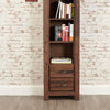 Mayan Walnut Narrow Bookcase - - Living Room by Baumhaus available from Harley & Lola - 3