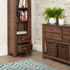 Mayan Walnut Narrow Bookcase - - Living Room by Baumhaus available from Harley & Lola - 4