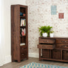 Mayan Walnut Narrow Bookcase - - Living Room by Baumhaus available from Harley & Lola - 2