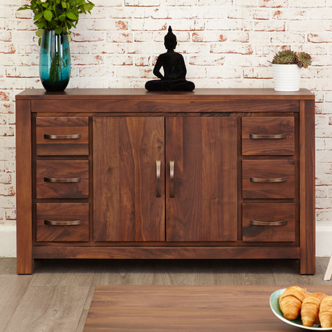Baumhaus Mayan Walnut Six Drawer Sideboard