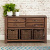 Mayan Walnut Console Table - - Living Room by Baumhaus available from Harley & Lola - 3