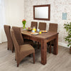 Mayan Walnut Extending Dining Table - - Living Room by Baumhaus available from Harley & Lola - 3