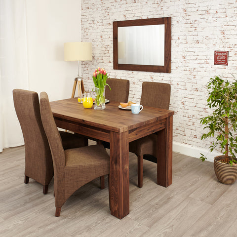 Baumhaus Mayan Walnut Extending Dining Table