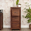 Baumhaus Mayan Walnut 3 Drawer Filing Cabinet From Harley