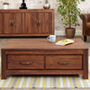 Baumhaus Mayan Walnut Low Four Drawer Coffee Table