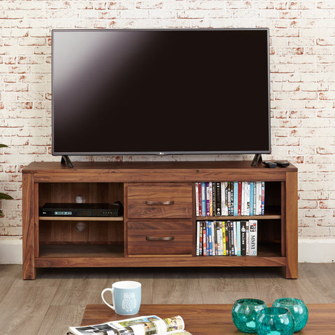 Mayan Walnut Widescreen Television Cabinet