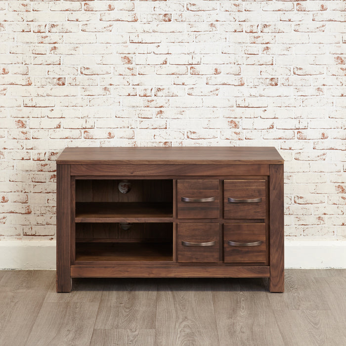 Mayan Walnut Four Drawer Television Cabinet - - Living Room by Baumhaus available from Harley & Lola - 5