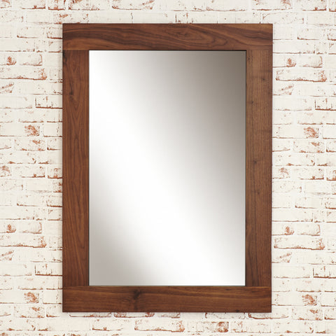 Mayan Walnut Medium Mirror - - Living Room by Baumhaus available from Harley & Lola - 1